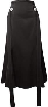 Ellery Honey Embellished Crepe Midi Skirt - Black