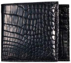 Ralph Lauren Alligator Hipster Wallet Black One Size