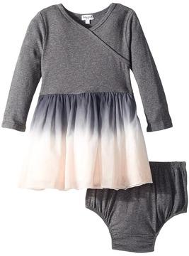 Splendid Littles Long Sleeve Sweater Dip-Dyed Tulle Dress Girl's Dress