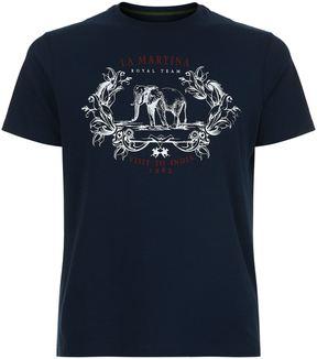 La Martina Visit To India Print T-Shirt