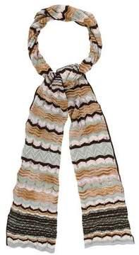 M Missoni Chevron Open Knit Scarf