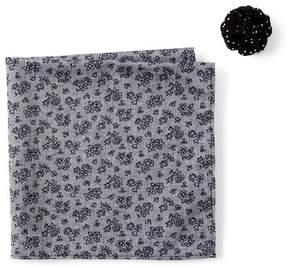 Original Penguin Decugis Floral Pocket Square & Lapel Pin Set