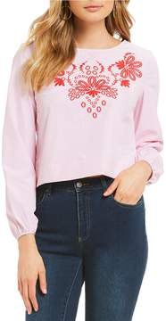 Daniel Cremieux Avery Embroidered Blouse