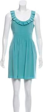 Tibi Ruffle-Accented Silk Dress