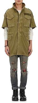 R 13 Men's Cotton Oversized Short-Sleeve Parka