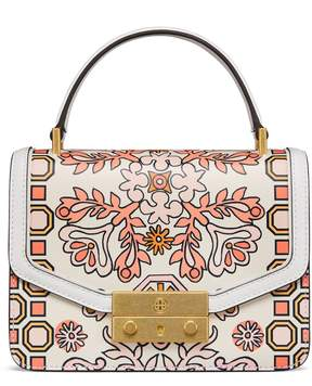 Tory Burch JULIETTE PRINTED MINI TOP-HANDLE SATCHEL - HICKS GARDEN - STYLE