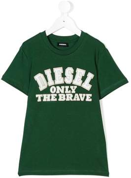 Diesel only the brave embroidered T-shirt