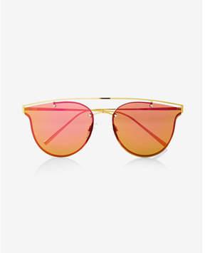Express rainbow lens brow bar sunglasses