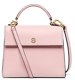 Tory Burch Parker Small Satchel - PINK QUARTZ/CARDAMOM - STYLE