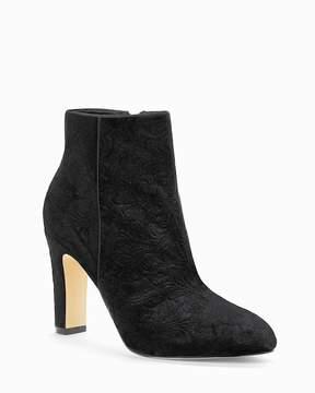 White House Black Market Black Velvet Ankle Boots