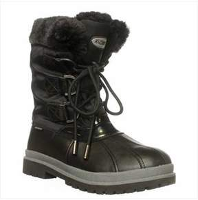 Khombu Birch Low Winter Boots, Black.