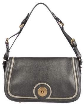 Eric Javits Metallic Leather Shoulder Bag