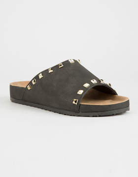 Chinese Laundry Qiana Shimmer Charcoal Womens Sandals