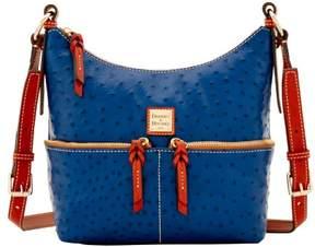 Dooney & Bourke Ostrich Small Pocket Zipper Crossbody Shoulder Bag