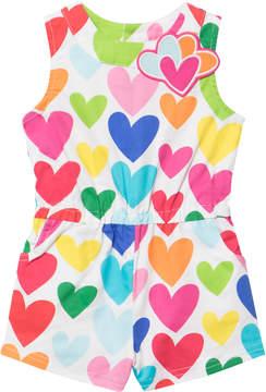 Agatha Ruiz De La Prada Coloured Heart Print Playsuit