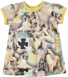 Molo Cathleen Dogtastic Short-Sleeve Dress, Size 6-24 Months
