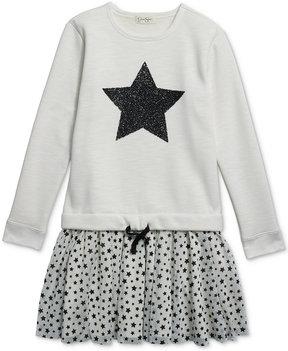Jessica Simpson Star-Print Popover Dress, Big Girls (7-16)