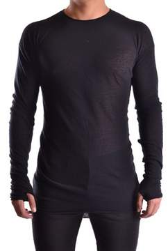 Isabel Benenato Men's Black Cotton Sweater.
