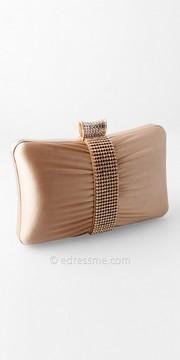 Camille La Vie Satin Center Stone Box Handbag