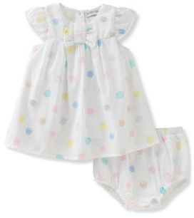 Absorba Babys Polka Dot Dress and Bloomer Set