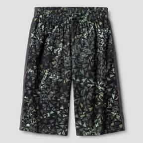 Champion Boys' Printed Lacrosse Shorts Olive Green Print