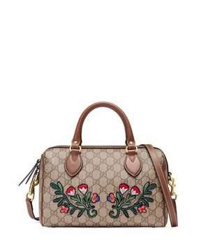 Gucci GG Supreme Embroidered Top-Handle Small Boston Bag, Multi - MULTI - STYLE