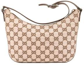 Gucci Brown Leather Pink GG Monogram Lurex Tote Bag - MULTI-COLORED - STYLE