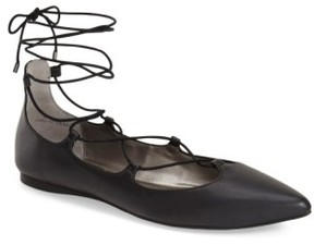 BP Women's 'Katrina' Pointy Toe Ghillie Flat