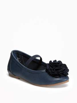 Old Navy Rosette Ballet Flats for Toddler Girls