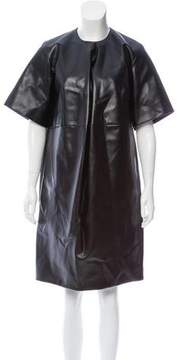 Celine Faux Leather Knee-Length Dress w/ Tags