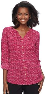 Croft & Barrow Women's Print Crepe Top