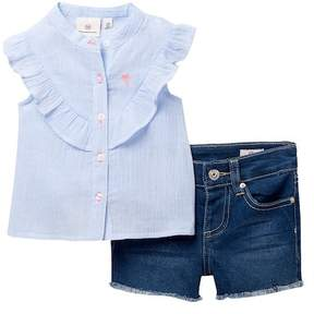AG Jeans Woven Striped Top & Shorts Set (Baby Girls)