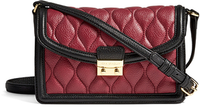 Vera Bradley Color Block Claret & Black Quilted Tess Leather Crossbody Bag - COLOR - STYLE