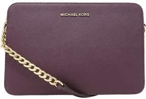 Michael Kors Women's Large Jet Set Saffiano Leather Crossbody Cross Body Bag Satchel - Damson - DAMSON - STYLE