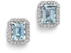 Bloomingdale's Aquamarine & Diamond Stud Earrings in 14K White Gold - 100% Exclusive