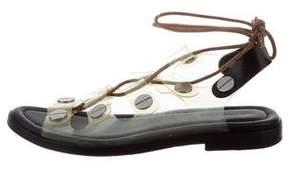 Alexander Wang Lace-Up PVC Sandals