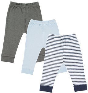 Luvable Friends Navy Stripe Ankle Pants Set - Newborn, Infant & Toddler