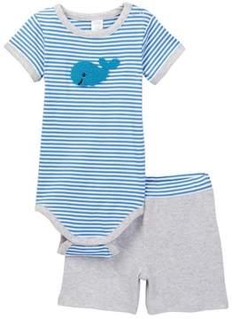 Nordstrom Whale Bodysuit & Short Set (Baby Boys)