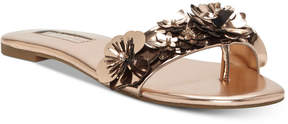 INC International Concepts I.n.c. Women's Millay Floral Slip-On Flat Sandals, Created for Macy's Women's Shoes