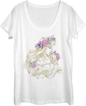 Fifth Sun Sleeping Beauty White Scoop Neck Tee - Women