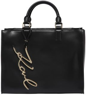 Karl Lagerfeld K/Metal Signature Leather Tote Bag