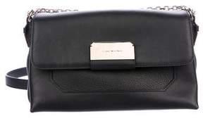 Stuart Weitzman Leather Flap Shoulder Bag