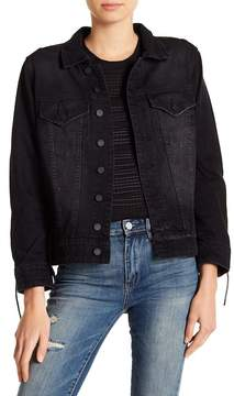 Blank NYC BLANKNYC Lace-Up Black Denim Jacket