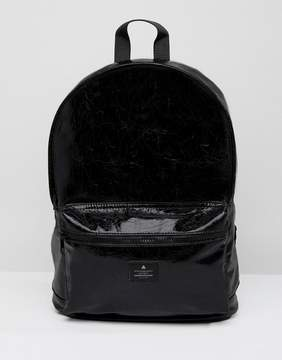 Asos Backpack In Vinyl Faux Leather