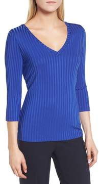 BOSS Etrica V-Neck Ribbed Top