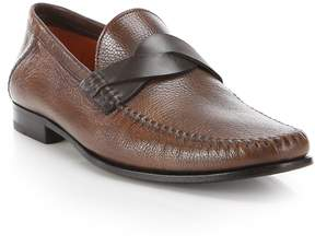 Santoni Men's Twist Keeper Leather Loafers