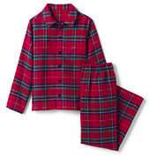 Lands' End Boys Flannel Sleep Set-Light Malachite Plaid