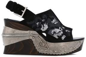 Alexander McQueen embroidered clog sandals