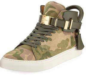 Buscemi Men's Camo-Print High-Top Sneaker