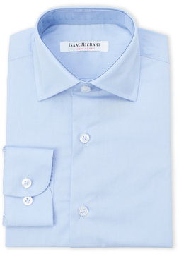 Isaac Mizrahi Boys 4-7) Woven Solid Blue Dress Shirt